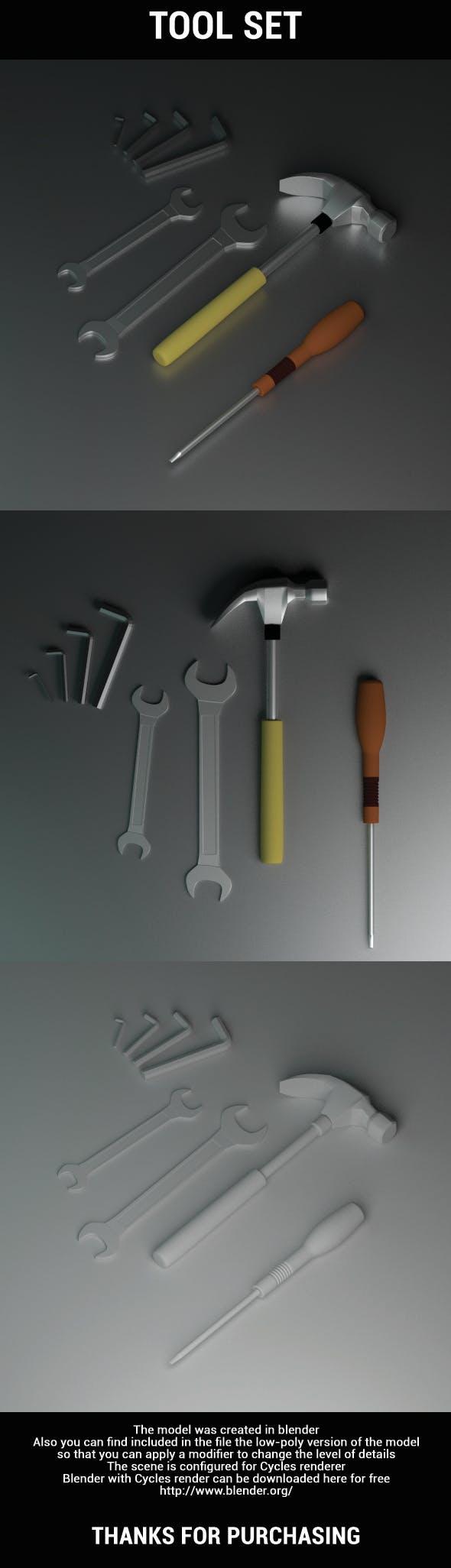 Tool Set - 3DOcean Item for Sale