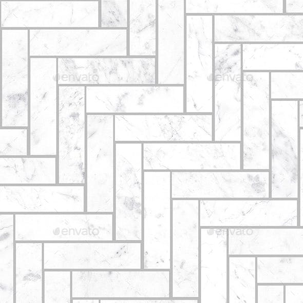 Seamless Small Marble Herringbone tiles