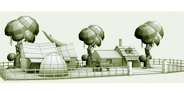 Village Game Model - 3DOcean Item for Sale