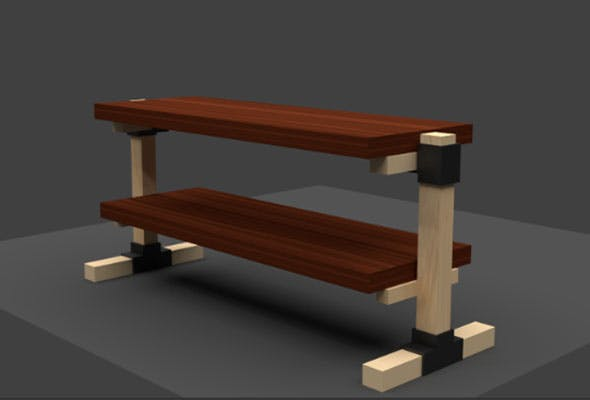 Realistic Table - 3DOcean Item for Sale