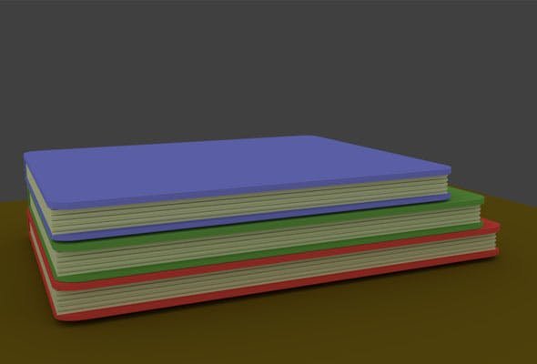 Low Poly Books - 3DOcean Item for Sale