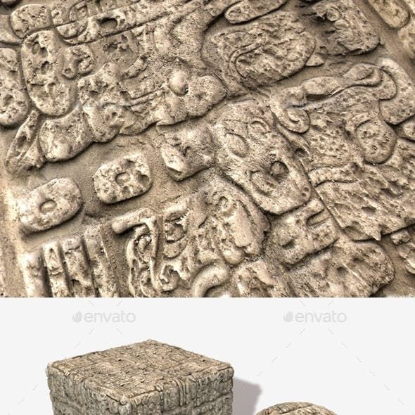 Temple Wall Carving Seamless Texture