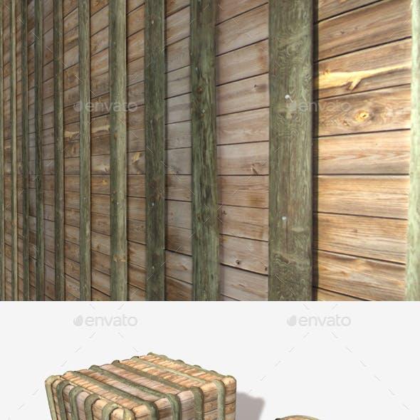 Wooden Barrier Wall Seamless Texture