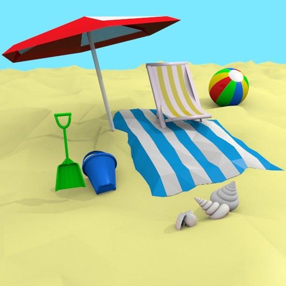 3D Beach Set