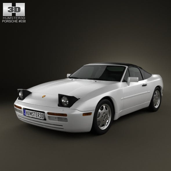 Porsche 944 Cabriolet 1991 - 3DOcean Item for Sale