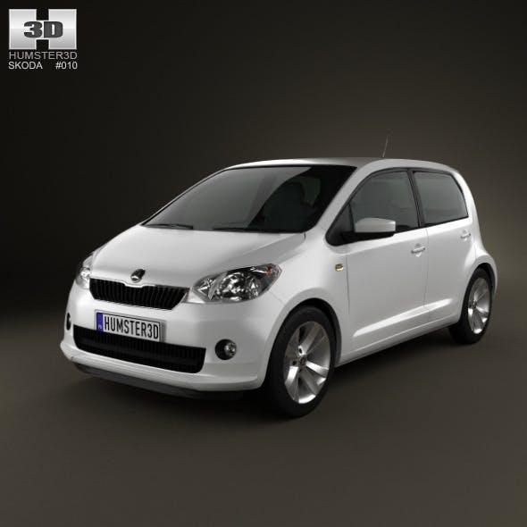 Skoda Citigo 5-door 2013 - 3DOcean Item for Sale