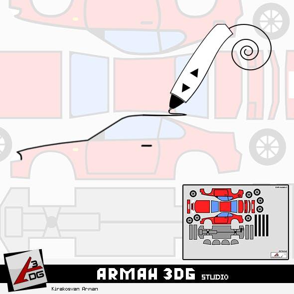 3D pen - Car  Models-1 - 3DOcean Item for Sale