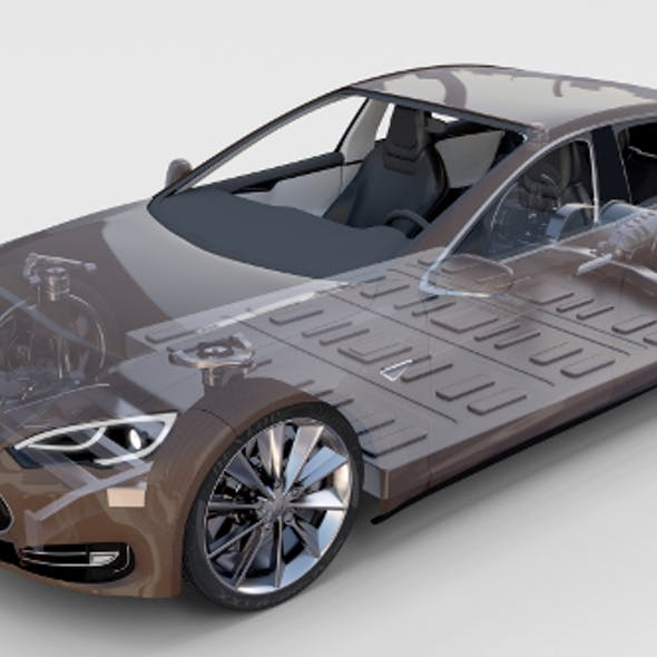 Tesla Model S with chassis/interior rev