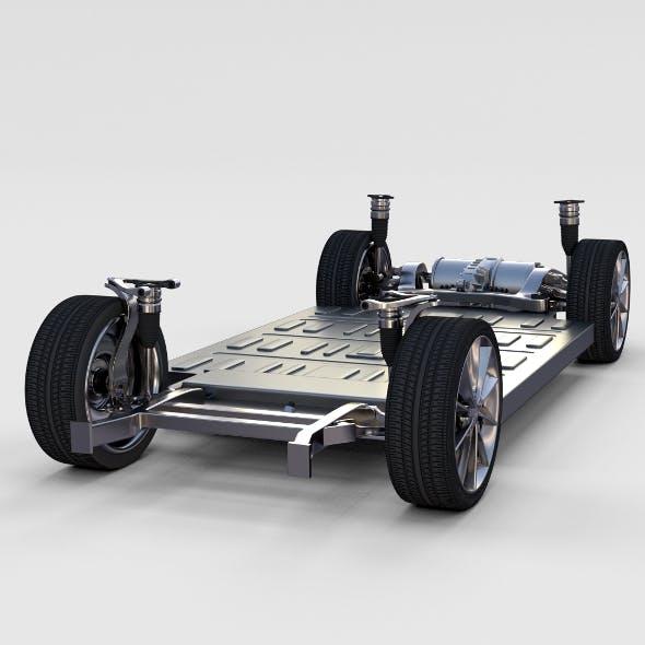 Tesla Model S Chassis rev - 3DOcean Item for Sale