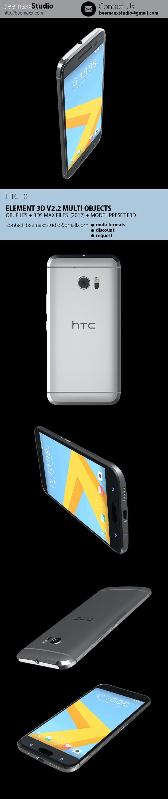 E3D - HTC 10 - 3DOcean Item for Sale