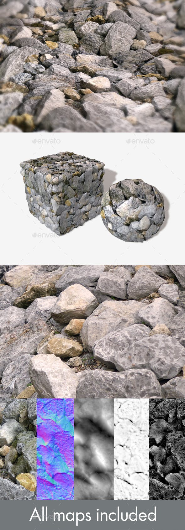 Giant Rocks Seamless Texture - 3DOcean Item for Sale