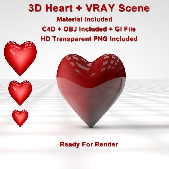 3D Heart ( Vray Scene )