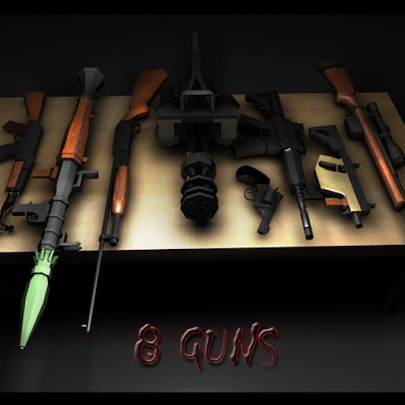 8 guns package