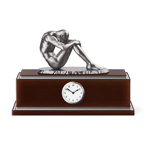 Clock with Metal Sculpture - 3DOcean Item for Sale