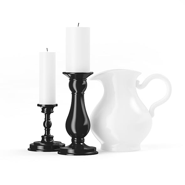 Two Candles and a Jug