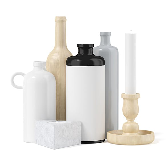 Vases and Candles - 3DOcean Item for Sale