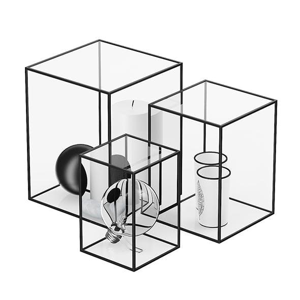 Decorative Glass Cubes - 3DOcean Item for Sale