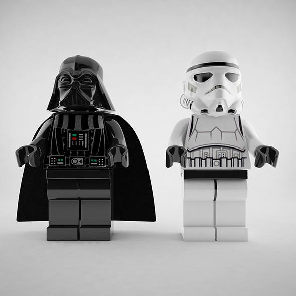 Darth Vader and Stormtrooper Lego