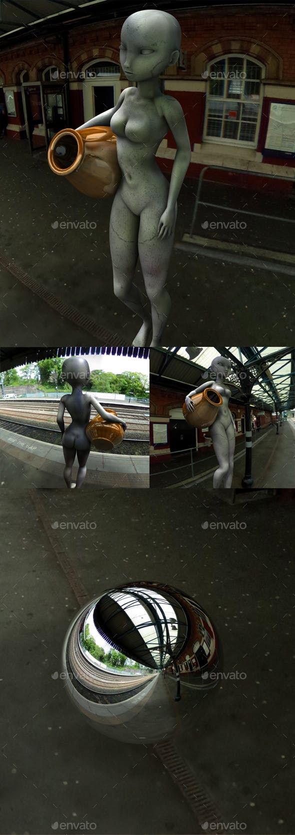 Outdoor Train Station HDRI - 3DOcean Item for Sale