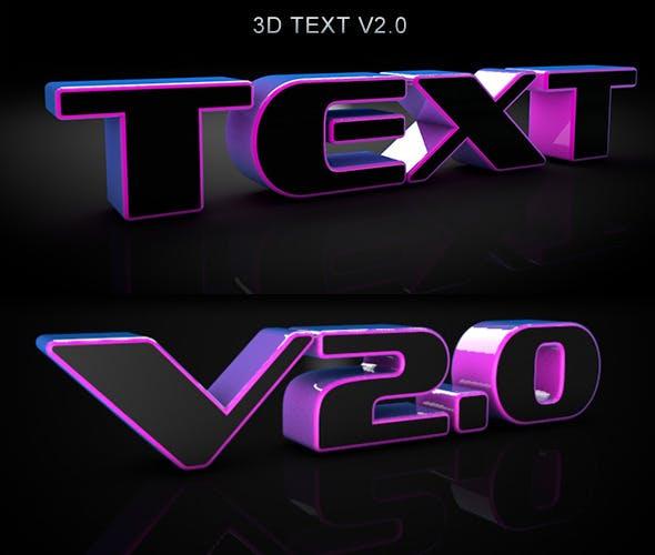 3D Dark Text V2.0 - 3DOcean Item for Sale