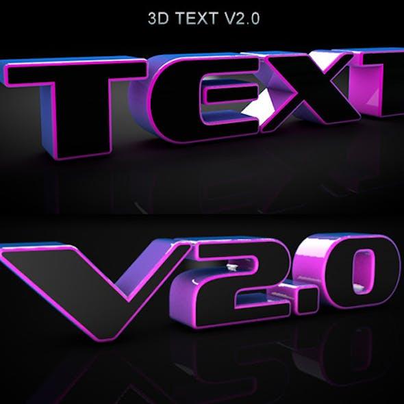 3D Dark Text V2.0