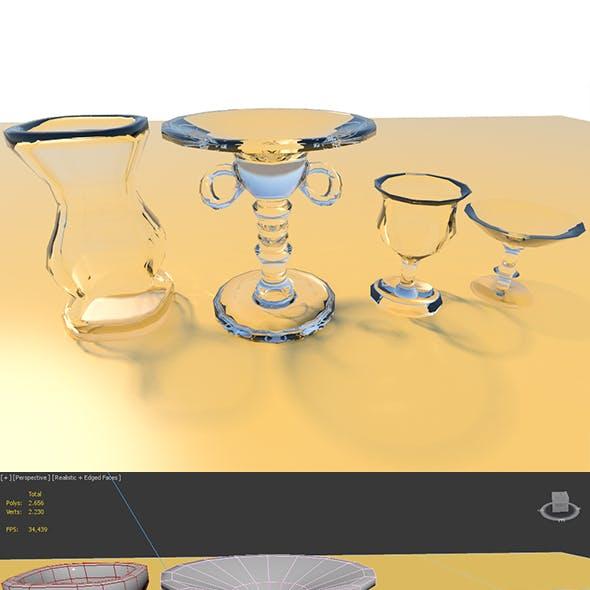 Low Poly Glass Set