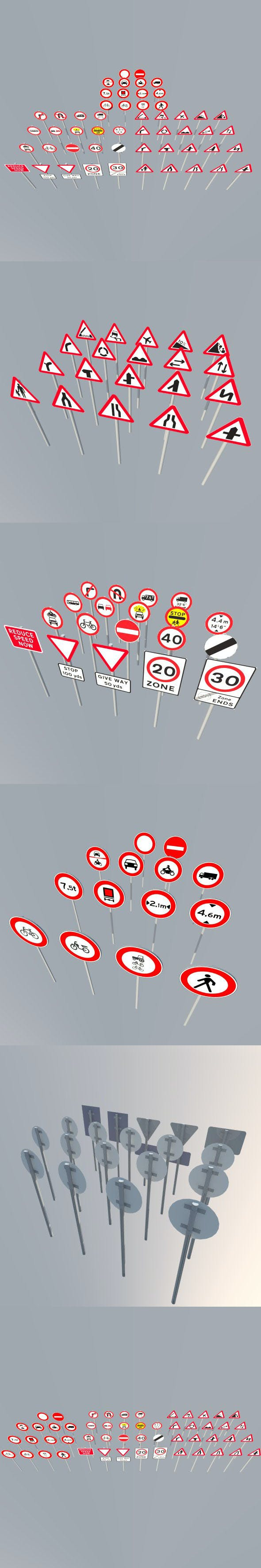 Road Signs main collection - 3DOcean Item for Sale