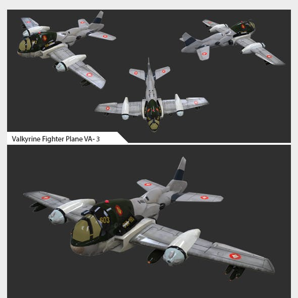 Game Ready Asset - Valkyrine Flighter Pane VA-03