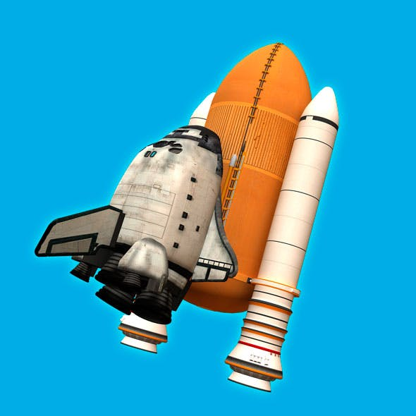 Toon Space Shuttle