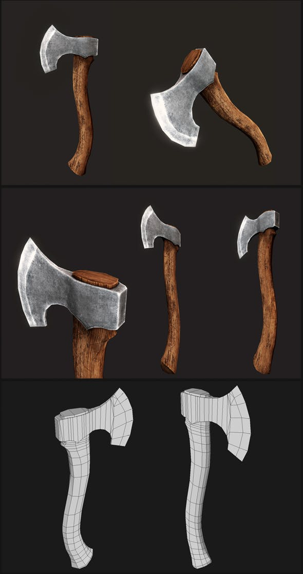 Carving Axe - 3DOcean Item for Sale