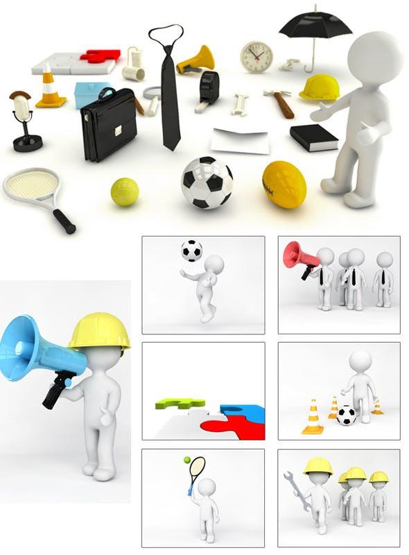 25 Diffrent 3D models for Cinema 4D - 3DOcean Item for Sale