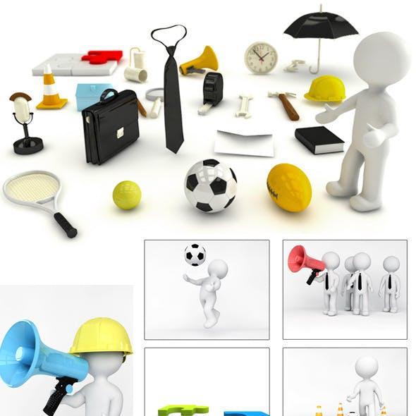 25 Diffrent 3D models for Cinema 4D