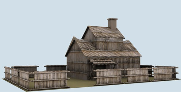 Low Poly Bamboo House Model - 3DOcean Item for Sale