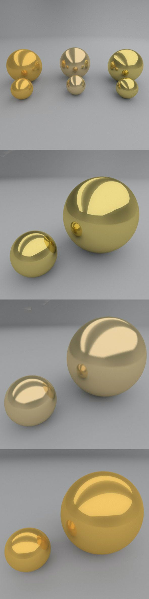 3 GOLD materials - 3DOcean Item for Sale