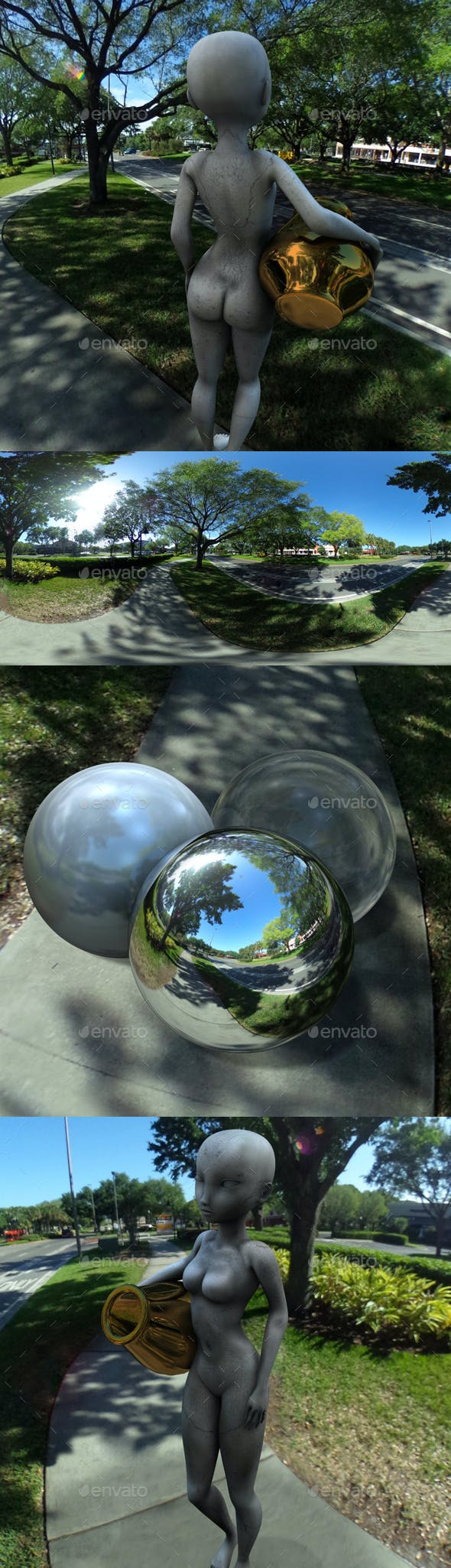 Sunny US Undercover Street Trees HDRI - 3DOcean Item for Sale