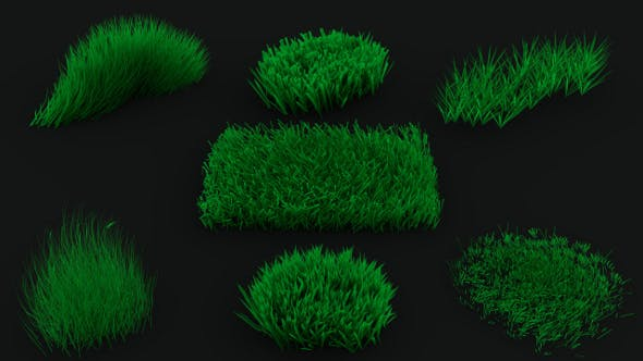 Grass / Weed Pack (7 objects) - 3DOcean Item for Sale