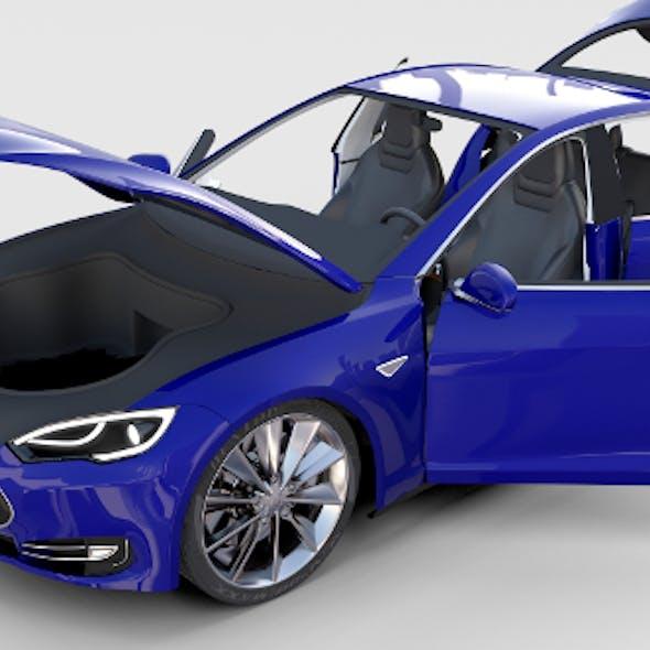 Tesla Model S with interior rev