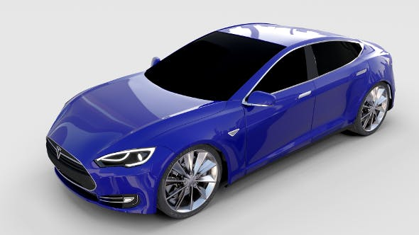 Tesla Model S P85 rev - 3DOcean Item for Sale