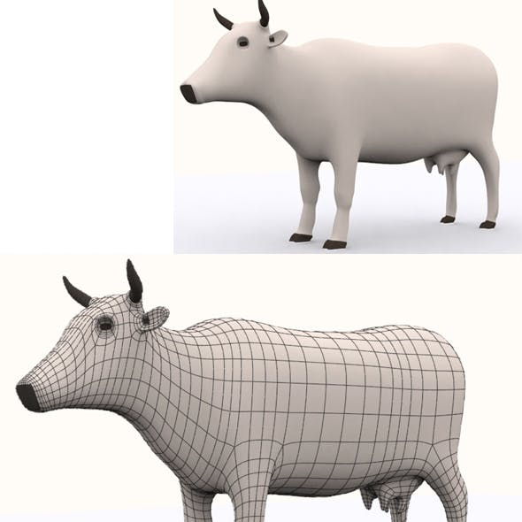 High Poly Cow Model