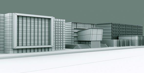Building Set Model 2 - 3DOcean Item for Sale