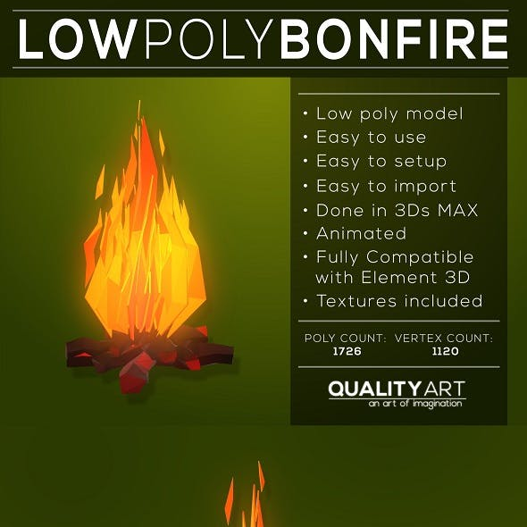 Low Poly Bonfire