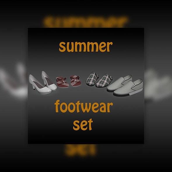 Footwear sammer set - 3DOcean Item for Sale