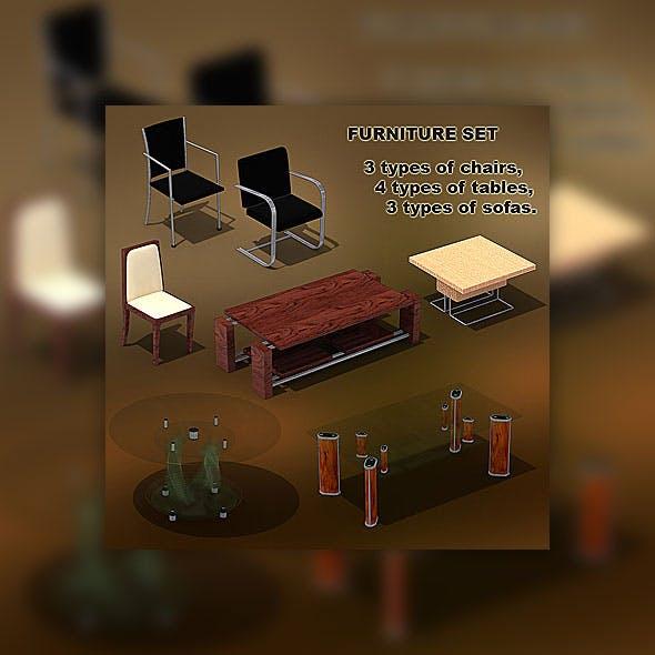 Furniture set 01 - 3DOcean Item for Sale