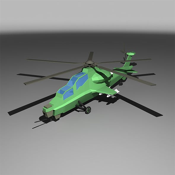 Lowpoly Z-10 Attack Helicopter