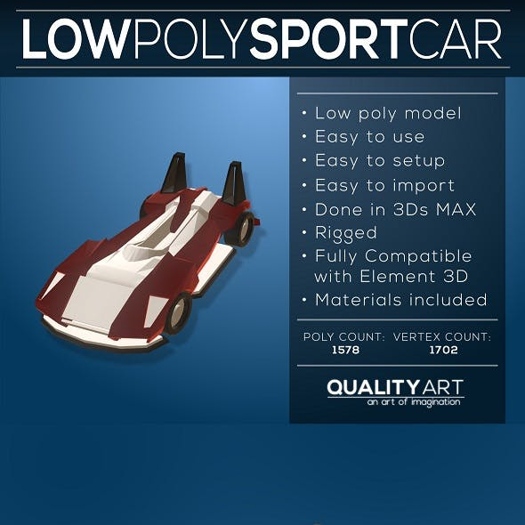 Low Poly Sport Car