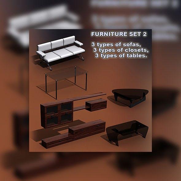 Furniture set 02 - 3DOcean Item for Sale