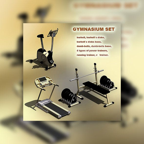 Gymnasium set - 3DOcean Item for Sale