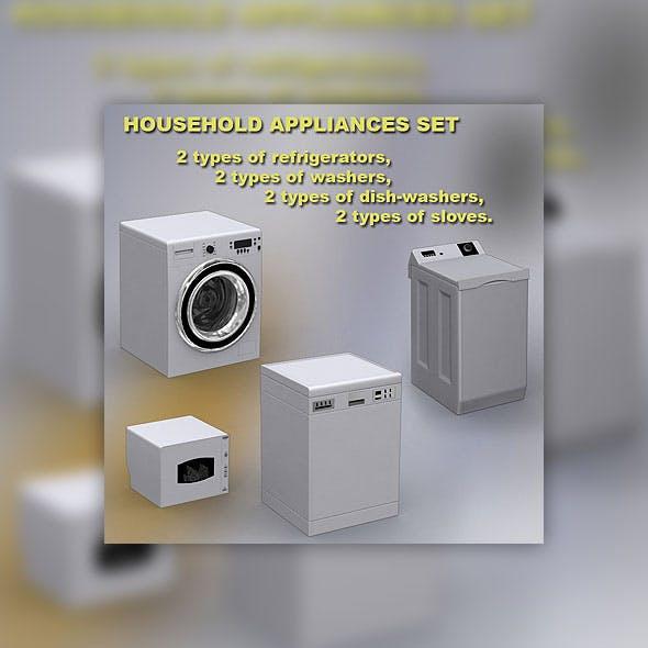Household appliances set - 3DOcean Item for Sale