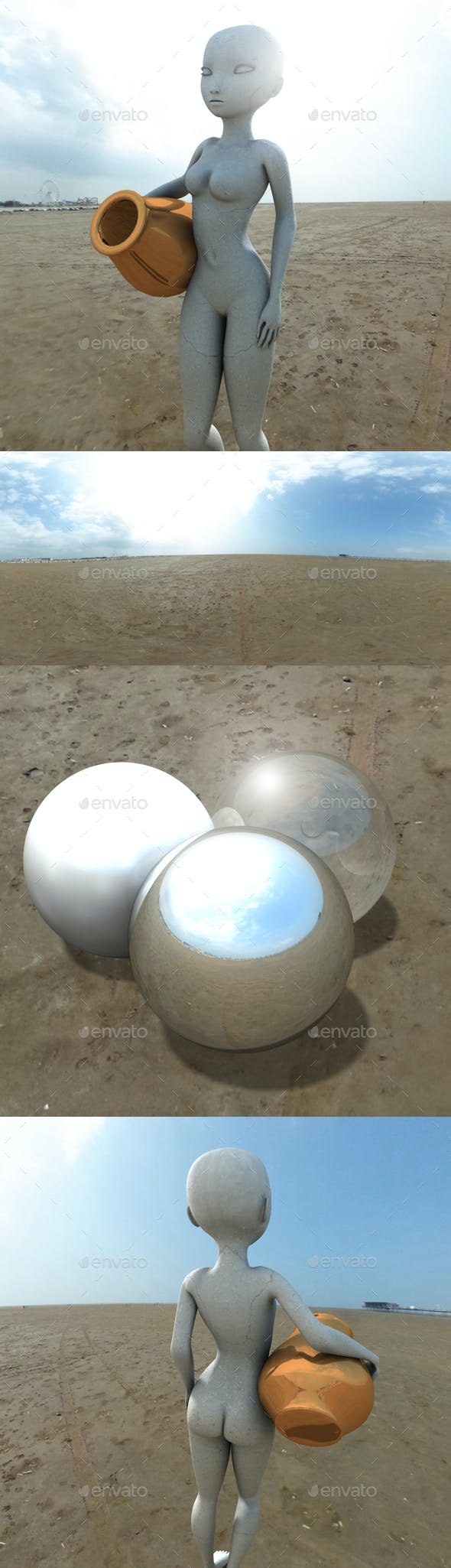 Cloudy Bright Beach HDRI - 3DOcean Item for Sale