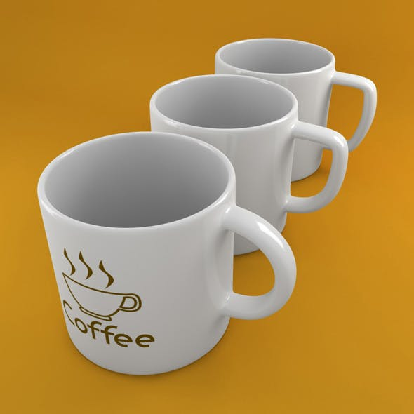 3x Coffee Tea Cup 002